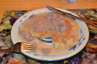 Pancakes with Sausage Gravy