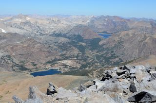 Tioga and Saddlebag Lakes from Mt. Dana, Tioga Pass, Yosemite National Park