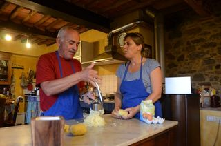 cooking lesson, Abbaccá-la, Agriturismo, Lucca, Tuscany, Italy