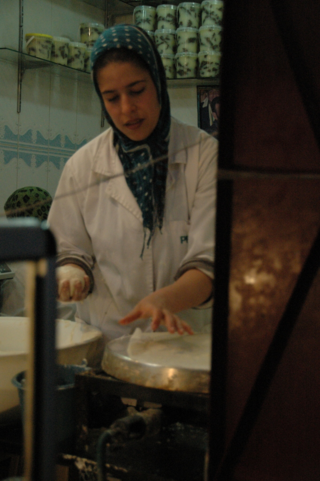 Making phyllo, Fez, Morocco