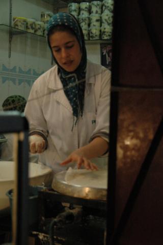 Making phyllo, Fez, Morocco