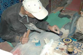 Mosaic work, Fez, Morocco