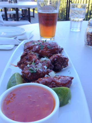 Chicken wings and beer at Mt. Hood Brewery