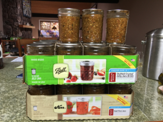 salsa in jars