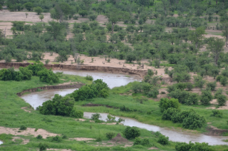 View from the terrace, Sinamatella Camp, Hwange National Park