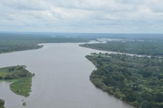 Zambesi River above Victoria Falls